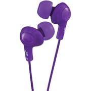 JVC HA-FR6-V Wired Gummy Plus In-Ear Headphone with Remote and Mic, Violet