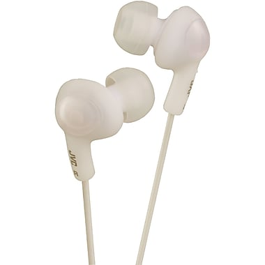 JVC® Gummy Plus In-Ear Headphones With Remote and Mic, White