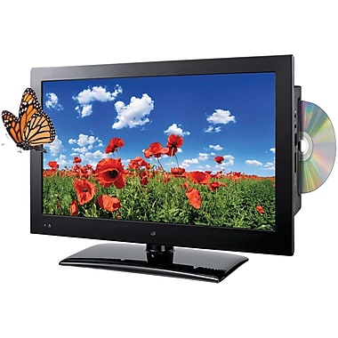 GPX 720p TDE1982B 19-Inch LED HDTV/DVD Combination, Black