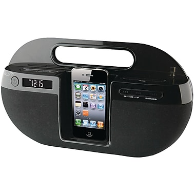 iLive™ IBP391B App-enhanced Boombox with FM Radio for iPhone and iPod