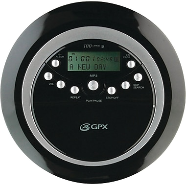 GPx® PC800 Portable MP3/CD Player