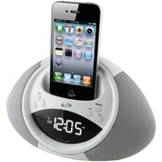 iLive™ ICP122W Dual Alarm Clock Radio with FM for iPod and iPhone