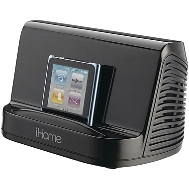 iHome® iHM16 Portable Stereo Speaker System For iPad, iPhone, iPod, MP3 Player, Black
