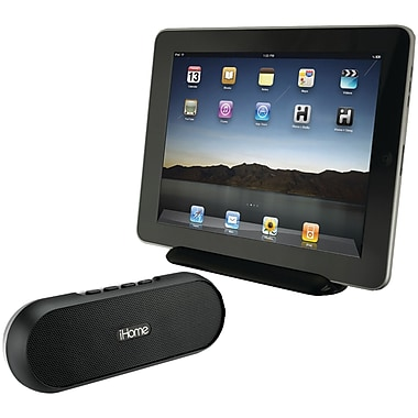 iHome® IDM12Bx Rechargeable Portable Bluetooth Speaker System For iPad, iPhone, iPod, Black