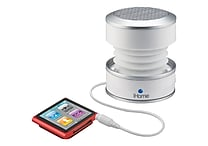iHome® iHM61W GlowTunes Rechargeable Stereo Mini Speaker For iPad, iPhone, iPod, White