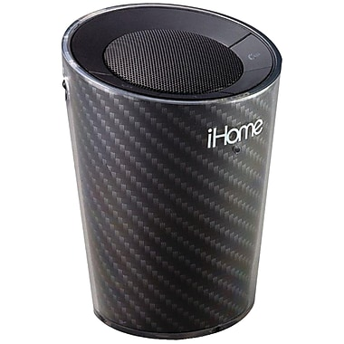 iHome® IDM9GC Portable Cup holder Bluetooth Speaker/Speakerphone, Black