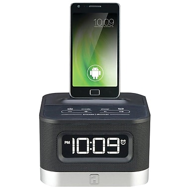 iHome® iC50B Universal Charging FM Stereo Alarm Clock Radio For Android™ Smartphones