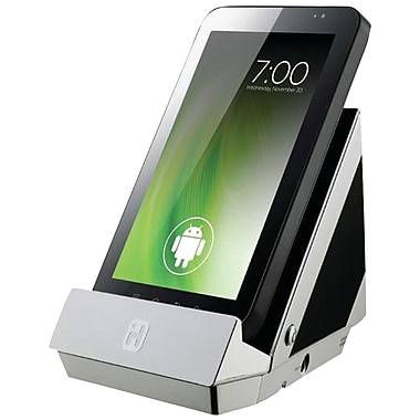 iHome® iC3SC Portable Stereo Speaker and Charging Dock For Tablets and Smartphones, Silver/Black