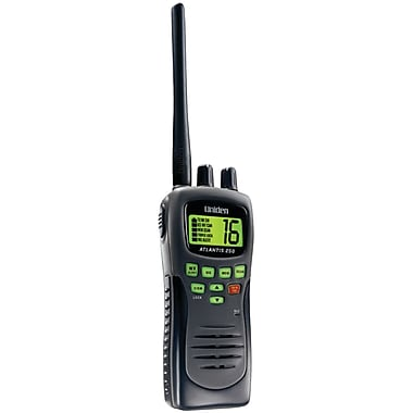 Uniden® Atlantis 250BK Handheld Two-Way VHF Marine Radio