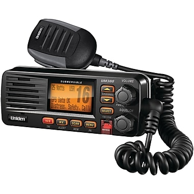 Uniden® UM380 Fixed Mount VHF/Two-Way Marine Radios