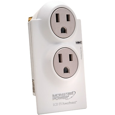 Monster Power® Home Series™ LCD PowerProtect™ 2-Outlet 1080 Joule Surge Suppressor
