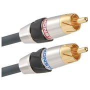 Monster® MC 200I 3.28' Stereo Audio Advanced-Performance Audio Cable, Gray/Silver