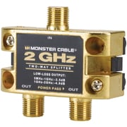 Monster® 2GHz 2 Way Low-Loss RF Splitter