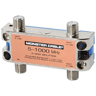 Monster® Standard® 3 Way RF Splitter For CATV Signals MKII