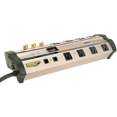 Monster Power® PowerCenter™ 8-Outlet 6125 Joule Surge Suppressor With CleanPower™ Stage 2