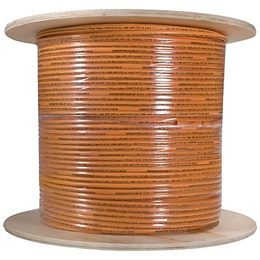 Monster® 1000' CAT-5E Telecom/Data Cable, Orange