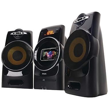 RCA RS3081I Gyro Shelf System With iPhone, iPod Dock, Black