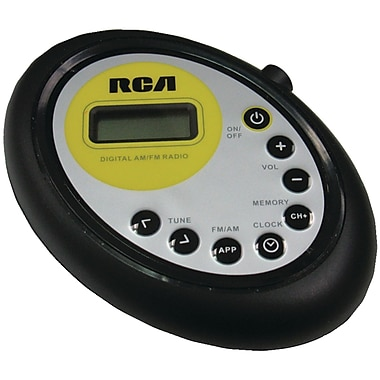 RCA® RP312A Armband AM/FM Radio digital tuner With LCD