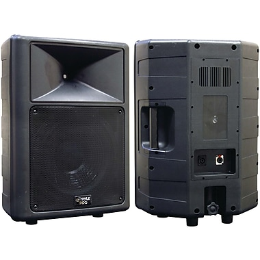 Pyle® PPHP1259 12in. 2-Way Molded Speaker Cabinet, 500 W