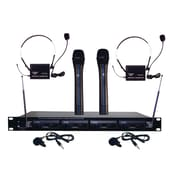 Pyle® Pro PDWM4300 4 Mic VHF Wireless Rack Mount Microphone System