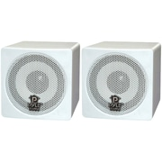 Pyle® PCB3 Mini Cube Bookshelf Speaker, White