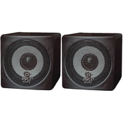 Pyle® PCB3 Mini Cube Bookshelf Speaker, Black