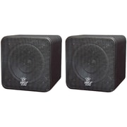 Pyle® PCB4 Mini Cube Bookshelf Speaker, Black