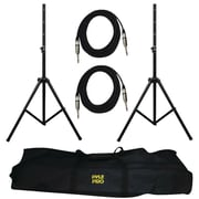 Pyle® PMDK102 Heavy-Duty Audio Speaker Stand and .25'' Cable Kit