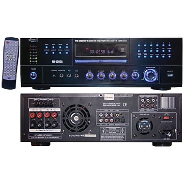 Pyle® Home PD1000A 1000 Watt AM/FM Receiver With Built-in DVD, MP3 And USB