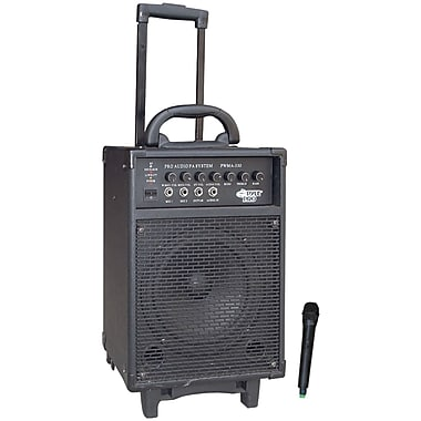 Pyle® PWMA330 Vhf Wireless Battery Powered PA System, 300 W