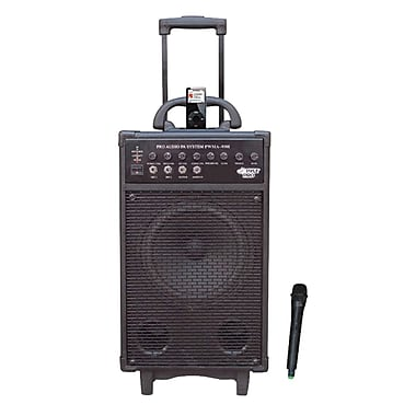 Pyle® PWMA930i Vhf Wireless Portable PA System / Echo With iPod Dock, 600 W