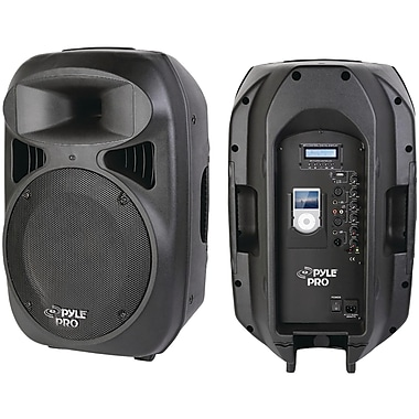 Pyle® Pro PPHP1299AI 2-Way Powered Loud Speaker System With Built-In Dock For iPod, Black