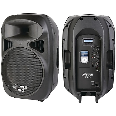 Pyle® Pro PPHP1599AI 2-Way Powered Loud Speaker System With Built-In Dock For iPod, Black