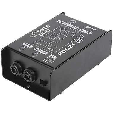 Pyle® Pyle®Pro 1/4'' Instrument To Balanced and Unbalanced Direct Box