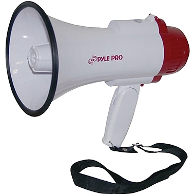 Pyle® Professional Megaphone/Bullhorn With Siren and Voice Recorder, 30 W