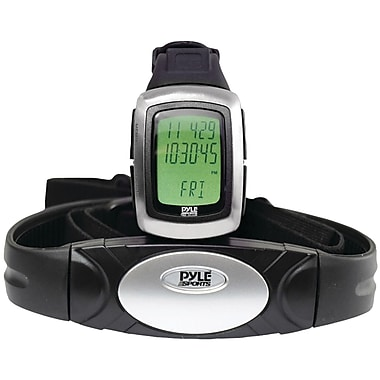 Pyle® Speed & Distance Heart Rate Watch With USB & 3D Walking/Running Sensor