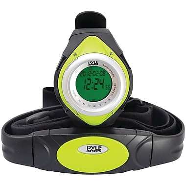 Pyle® Heart Rate Monitor Watch With Minimum, Calorie Counter, and Target Zones, Green