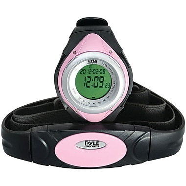 Pyle® Heart Rate Monitor Watch With Minimum, Calorie Counter, and Target Zones, Pink