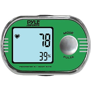 Pyle® Pedometer personalized calibration For Walking And Running With ECG Finger Touch