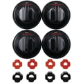 Range Kleen® 4 Pack Universal Gas Range Kleen Replacement Knob, Black