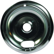 "Range Kleen® Style A 8"" Universal Chrome Drip Pan, Single Piece, Silver"
