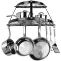 Range Kleen® CW6002R Two Shelf Wall Mount Pot Rack, Black