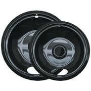 Range Kleen® 2 Pack Style A Porcelain Drip Pans, Black