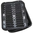 Range Kleen® 2 Piece Porcelain Broiler Pan With Grill, Black