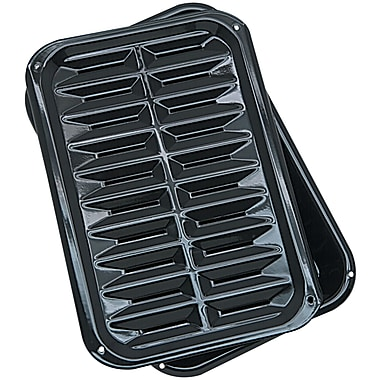Range Kleen® 2 Piece Porcelain Broil 'n Bake Pan, Black