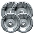Range Kleen® 4 Pack Style A 2in. - 6in. Chrome Drip Pans