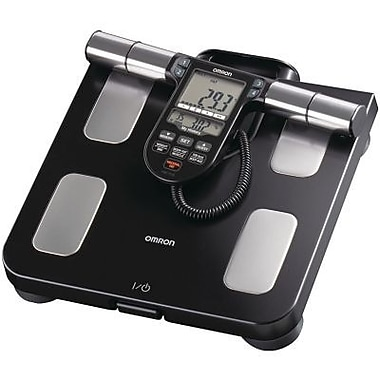 Omron® HBF-516B Full-Body Sensor Body Composition Monitor and Scale, 330 lbs., Black