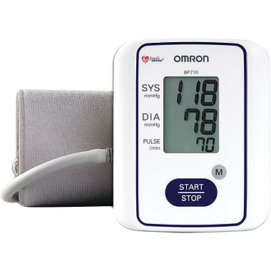 Omron® 3 Series™ Upper Arm Blood Pressure Monitor, White