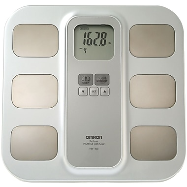 Omron® HBF-400 Full-Body Sensor Body Composition Monitor With Scale, 300 lbs.