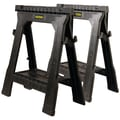 STANLEY® 060864R Folding Sawhorse Twin Pack, Black